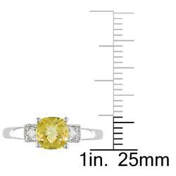 Miadora 10k White Gold Citrine and Diamond Accent Ring