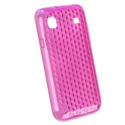 Hot Pink Diamond TPU Case/ Screen Protector for Samsung T959 Vibrant - Thumbnail 1