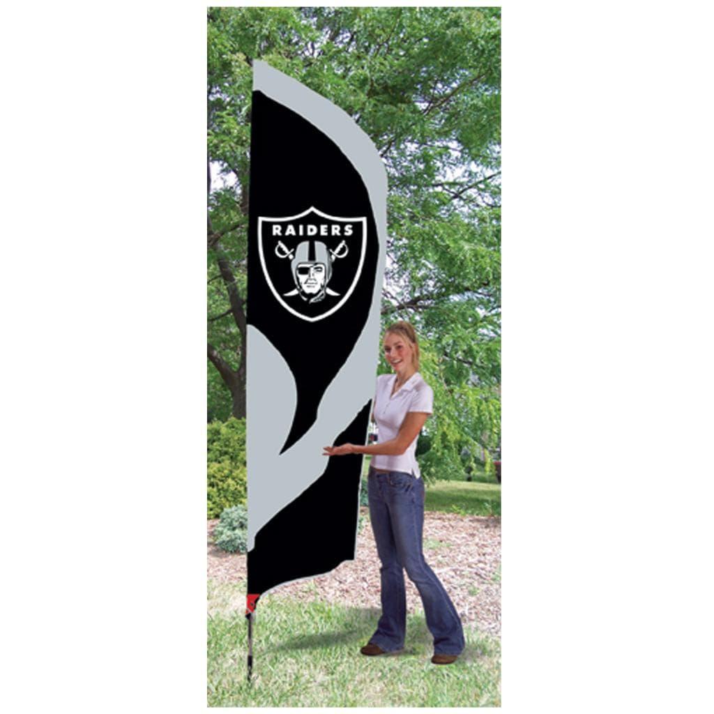Oakland Raiders Tall Nylon Team Flag