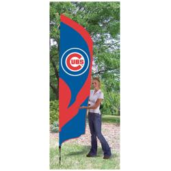 Chicago Cubs Tall Nylon Team Flag - Thumbnail 1