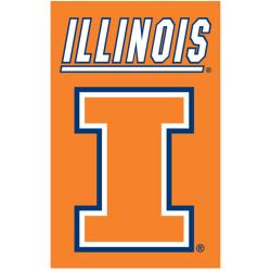 Illinois Fighting Illini Nylon Banner Flag