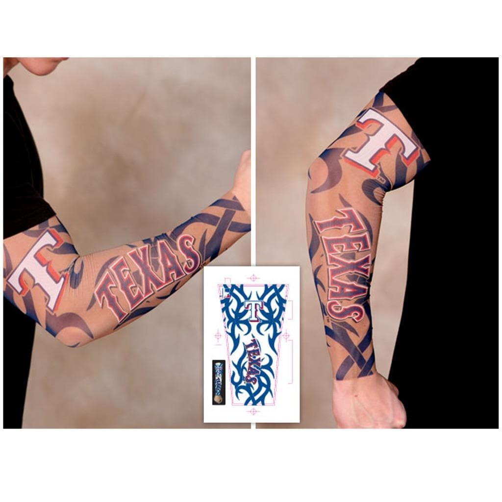 Texas Rangers Tattoo Sleeves Pack Of 2 Free Shipping