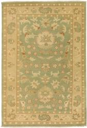Hand-knotted Halmstad Sage Wool Rug (3'9 x 5'9) - Thumbnail 1