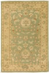 Hand-knotted Halmstad Sage Wool Rug (3'9 x 5'9) - Thumbnail 2