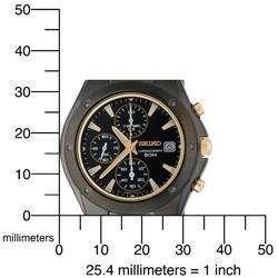 Seiko Men's Titanium Chronograph Watch - Thumbnail 2