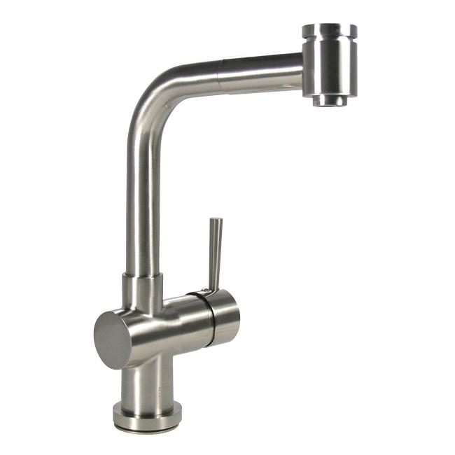 DeNovo Modern Brushed Nickel Kitchen Pullout Faucet
