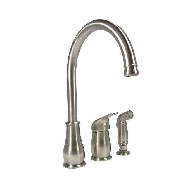 three hole kitchen faucets denovo three stainless steel kitchen faucet with 22272