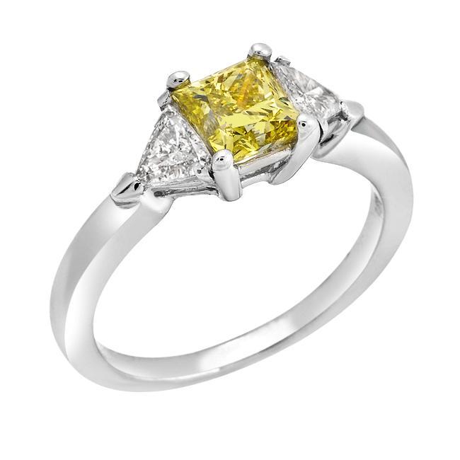 14k White Gold 1 2/5ct TDW Yellow and White Diamond Ring (G-H, SI2)