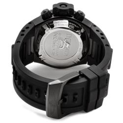 Invicta Men's 'Subaqua' Rubber Strap Black Ion-plated Chronograph Watch - Thumbnail 1