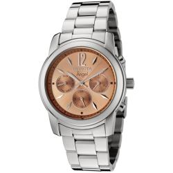 Invicta Women's 'Angel' Salmon Dial Stainless Steel Watch