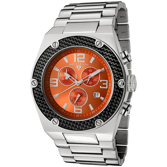 Swiss Legend Men's 'Throttle' Stainless Steel Chronograph Watch