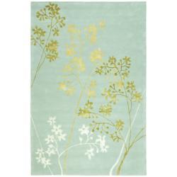 Safavieh Handmade Soho Autumn Light Blue New Zealand Wool Rug 6' x 9') (6' x 9')