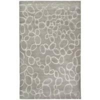 Safavieh Handmade Soho Loops Grey New Zealand Wool Rug (3'6 x 5'6') - 3'6 x 5'6