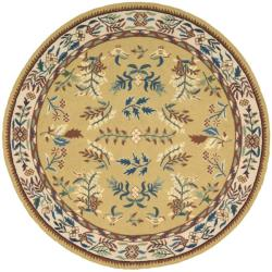 Nourison Hand-hooked Gold Country Home Rug (1'9 x 2'9)