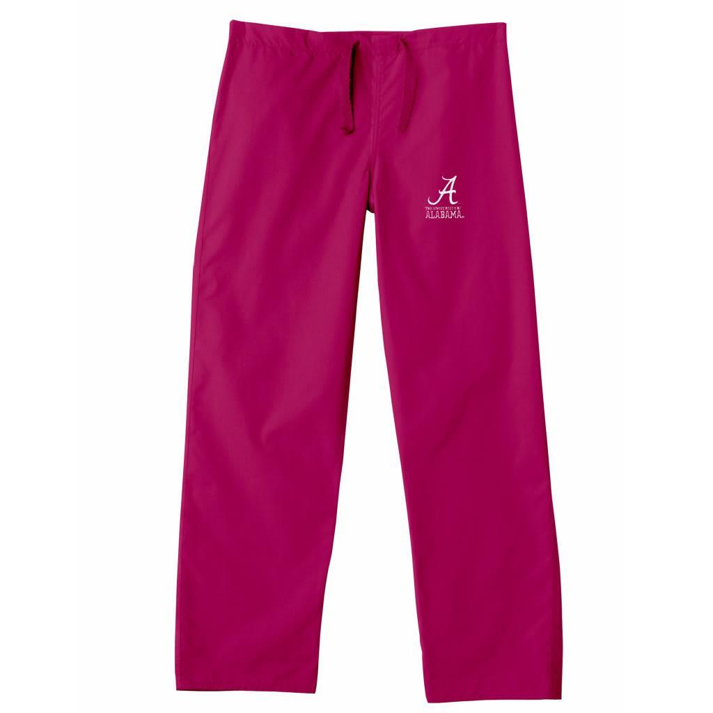 Gelscrub Unisex Red Cotton/Polyester Alabama Crimson Tide Scrub Pants