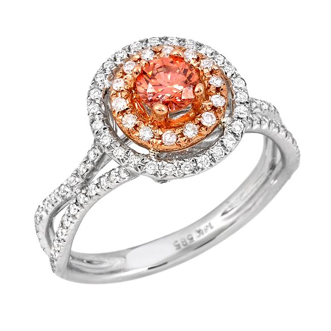 14k Two-tone Gold 3/4ct TDW Pink and White Diamond Ring (G-H, SI2)