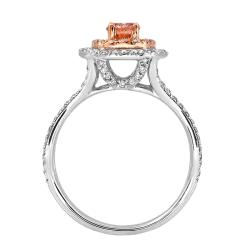 14k Two-tone Gold 3/4ct TDW Pink and White Diamond Ring (G-H, SI2) - Thumbnail 1