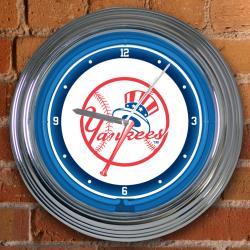 New York Yankees 15-inch Neon Clock - Thumbnail 1