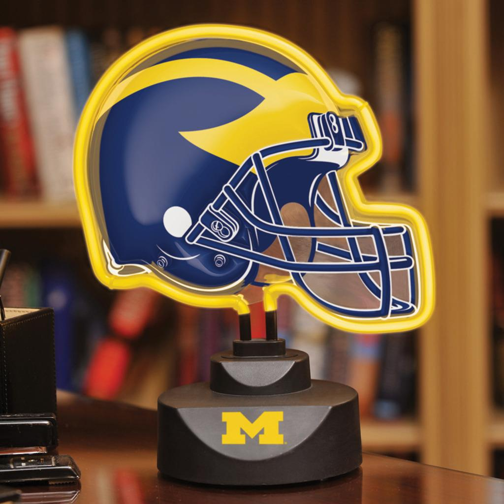Michigan Wolverines Neon Helmet Lamp