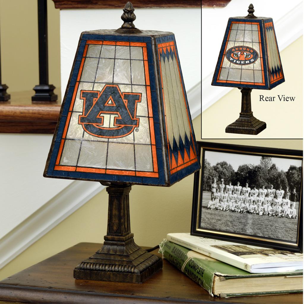 Auburn Tigers 14-inch Art Glass Lamp