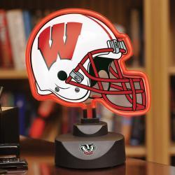 Wisconsin Badgers Neon Helmet Lamp