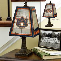 Auburn Tigers 14-inch Art Glass Lamp - Thumbnail 2