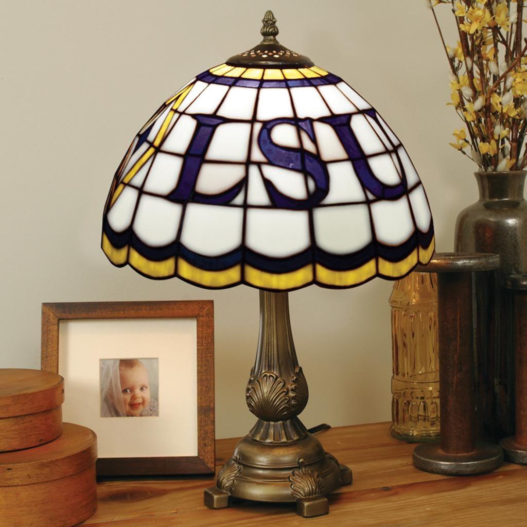 Tiffany-style LSU Tigers Lamp