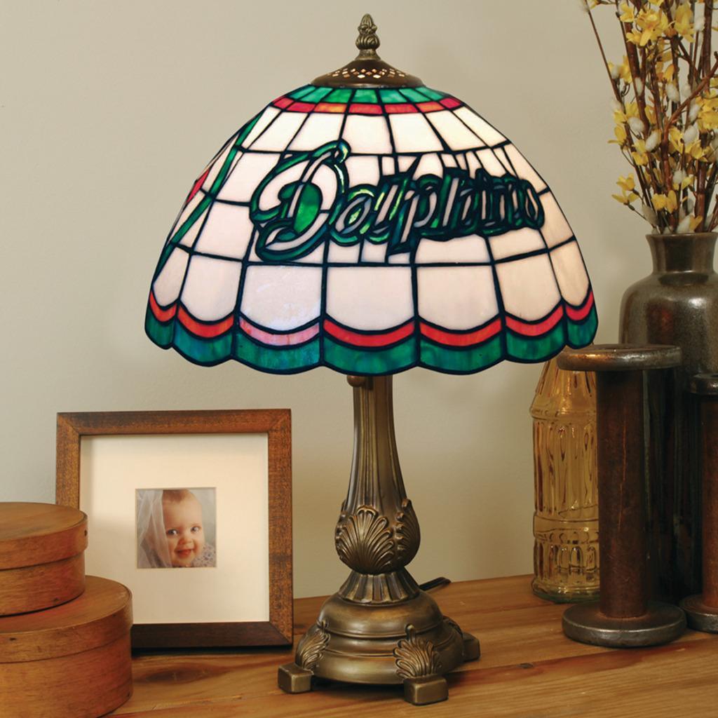 Tiffany-style Miami Dolphins Lamp