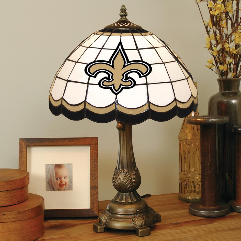 Tiffany-style New Orleans Saints Lamp