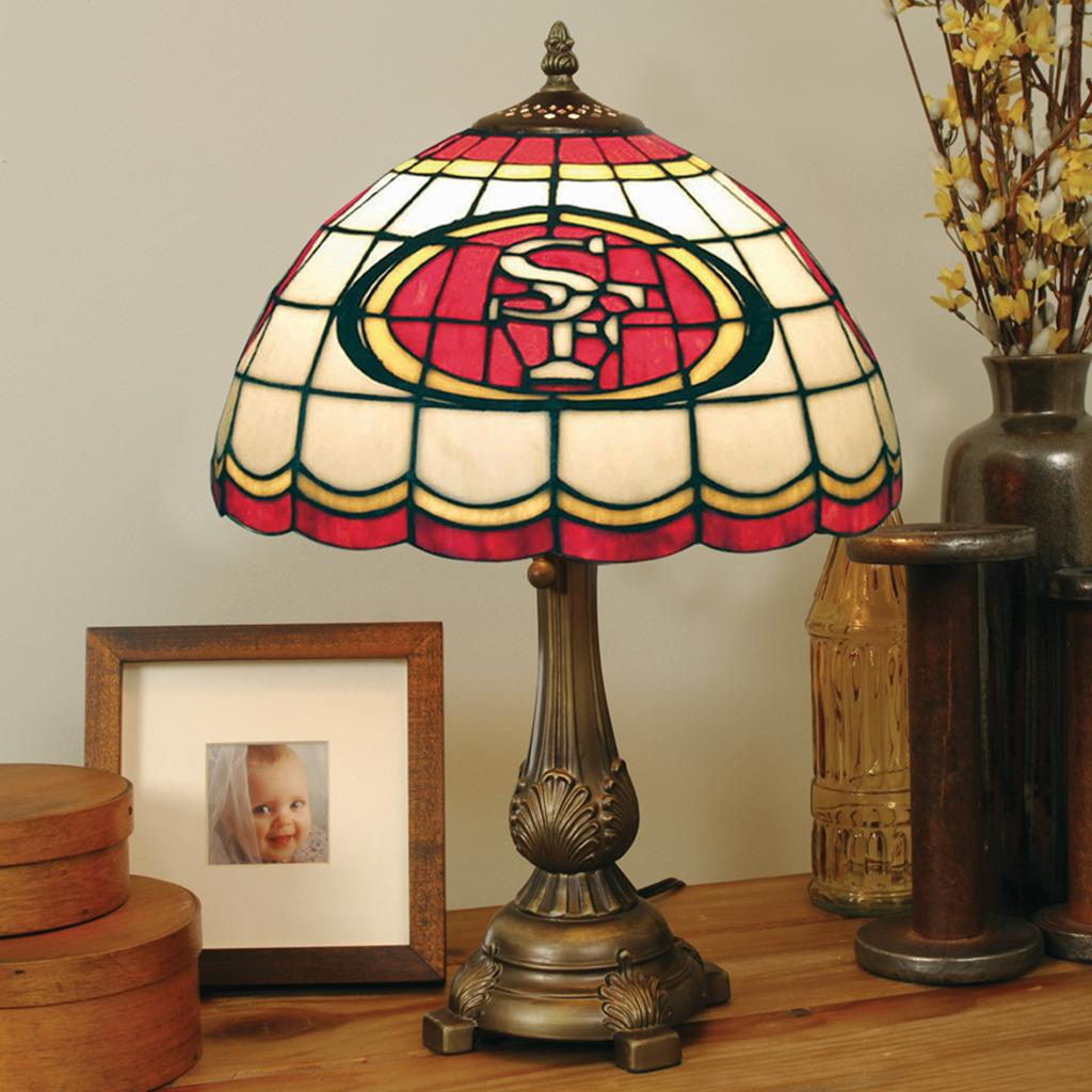 Tiffany-style San Francisco 49ers Lamp
