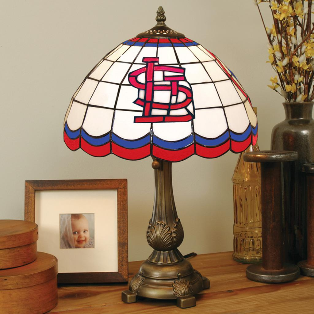 Tiffany Style St Louis Cardinals Lamp Free Shipping