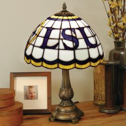 Tiffany-style LSU Tigers Lamp - Thumbnail 1