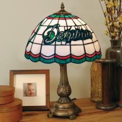 Tiffany-style Miami Dolphins Lamp - Thumbnail 1