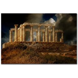 Lois Bryan 'Temple of Poseidon' Canvas Art