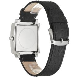 Skagen Men's 'Modern' Stainless Steel and Leather Strap Watch - Thumbnail 2