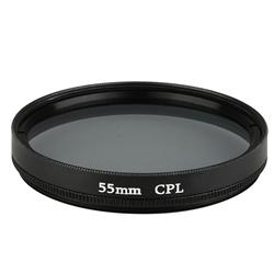 Black 55mm Circular Polarizing Lens Filter