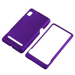 Dark Purple Rubber Coated Case for Motorola A955 Droid 2