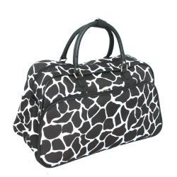 World Traveler 20-inch Giraffe Fashion Carry On Shoulder Travel Tote Bag - Thumbnail 1