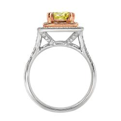 14k Two-tone Gold 1 3/4ct TDW Yellow and White Diamond Ring (G-H, SI2)