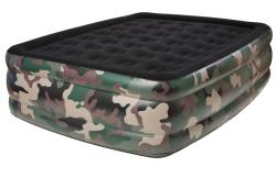 Pure Comfort Camouflage Queen Raised Flock Top Air Bed