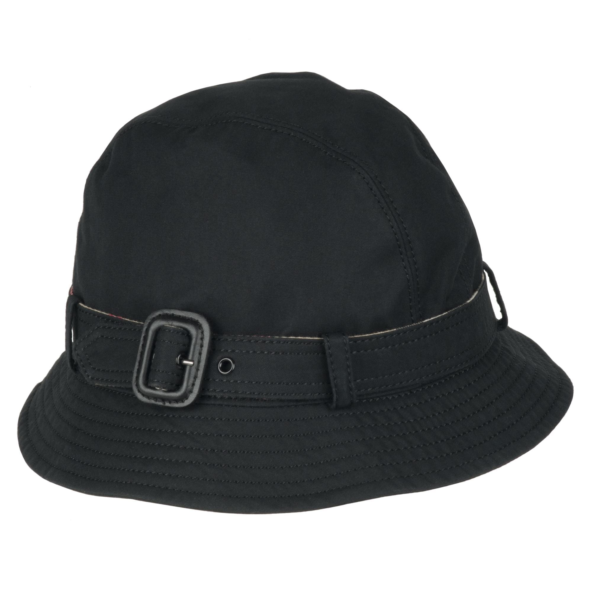 28ff1ce4938 Shop Burberry Cotton Black Belted Bucket Hat - Ships To Canada ...