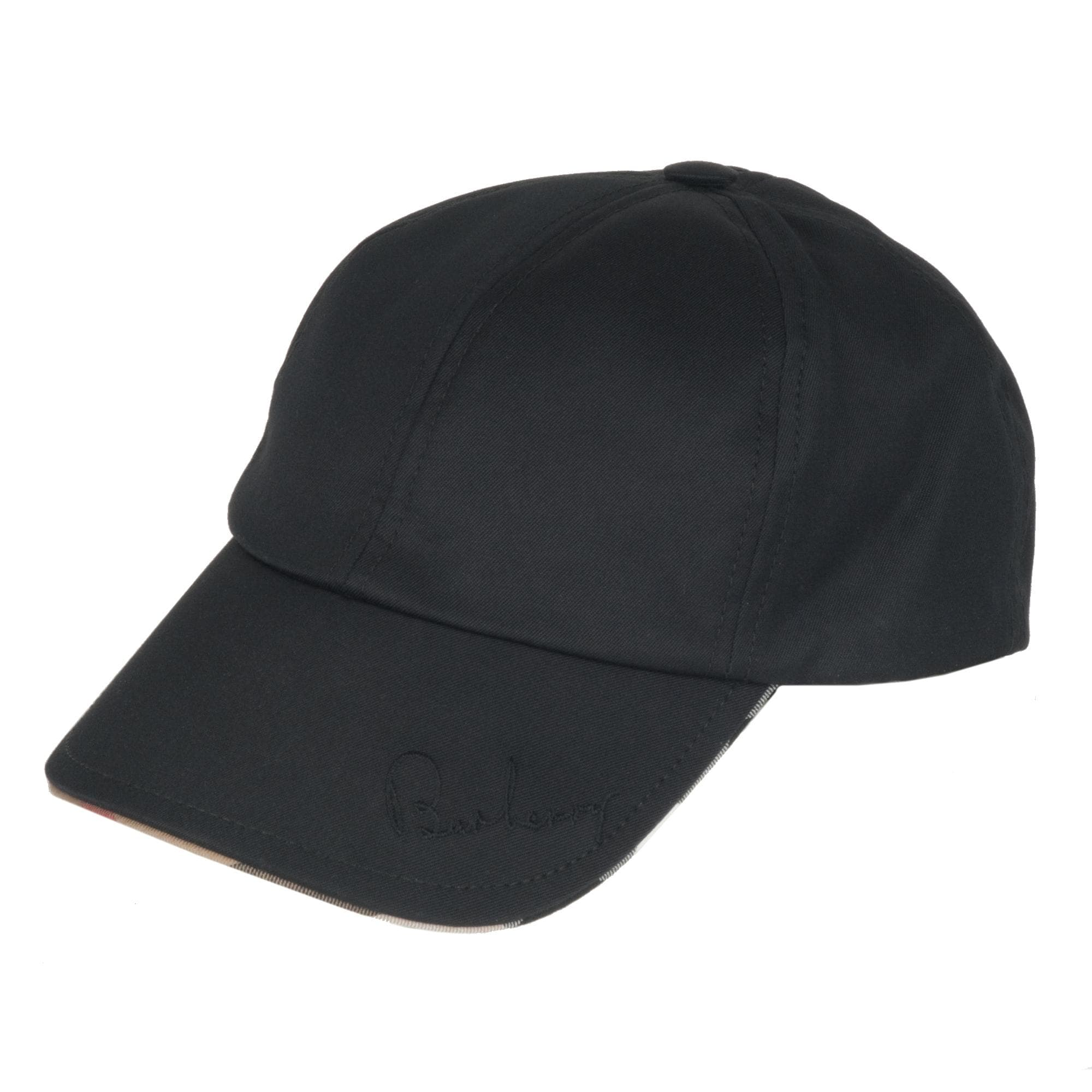 Shop Burberry Cotton-blend Black Baseball Cap - Free Shipping Today ... 66475eed662