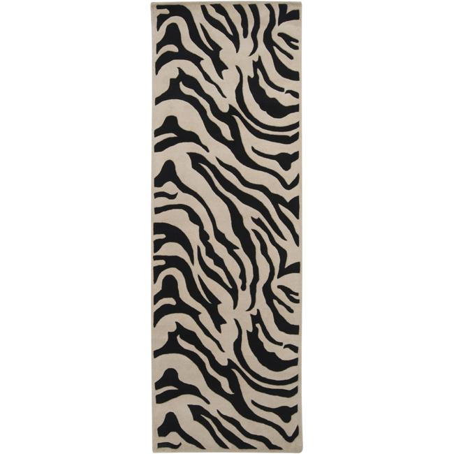 Artistic Weavers Hand-tufted Black/White Zebra Animal Pri...