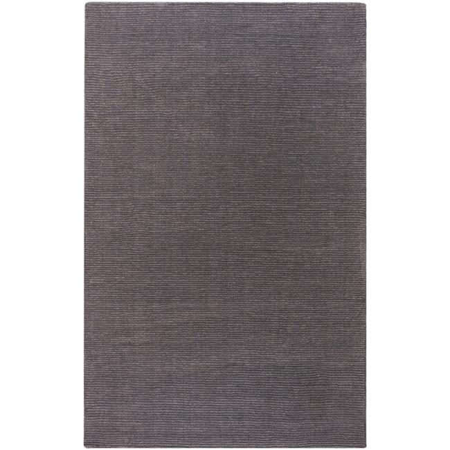 Hand-crafted Solid Brown Casual Ridges Wool Rug (6' x 9')