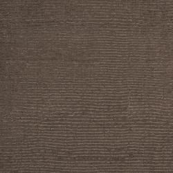 Hand-crafted Solid Brown Casual Ridges Wool Rug (8' Round) - Thumbnail 1