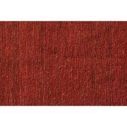Hand-woven Red Jute Rug (3' 6 x 5' 6) - Thumbnail 1