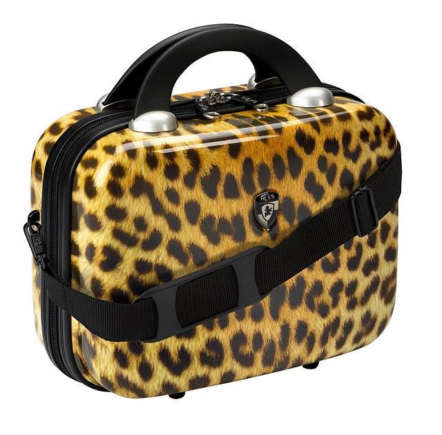 Shop Heys Vcase Leopard Hardside Beauty Case Free