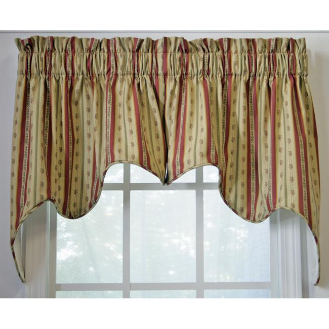 Suzanne Stripe 2-piece Swag Empress Valance - Thumbnail 0