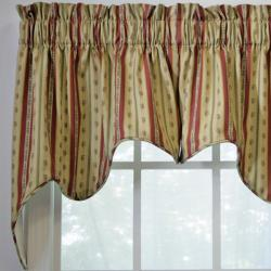 Suzanne Stripe 2-piece Swag Empress Valance - Thumbnail 1
