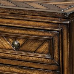 Hand-stained Chestnut Accent Chest - Thumbnail 1